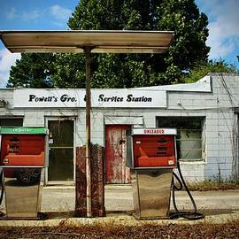Old Service Station by Cynthia Guinn