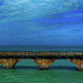 Old Seven Mile Bridge in Florida by Jennifer Stackpole