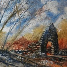 David K Myers - Old Stones, Watercolor