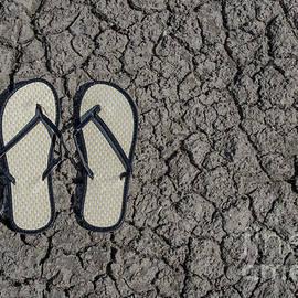 Liz Masoner - Old Style Sandals on Drought Cracked Earth