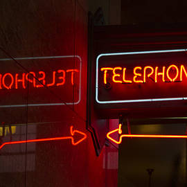 Jean Noren - Old Telephone Sign