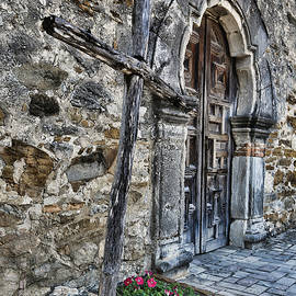 Old Timber Cross and Door by Stephen Stookey