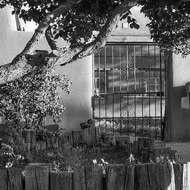 Old Town Albuquerque Pueblo In Black And White by Gregory Ballos