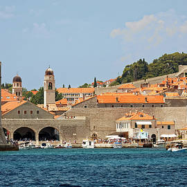 Old Town Dubrovnik Seascape by Sally Weigand