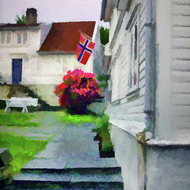 Old Town Stavanger - Painterly by Susan Lafleur