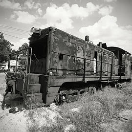 Old Train Engine BW by Joseph C Hinson