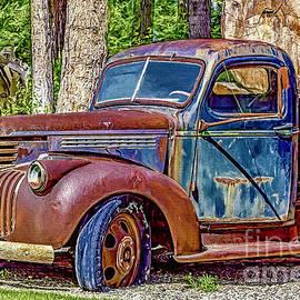 Jean OKeeffe Macro Abundance Art - Old Truck