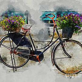 Ian Mitchell - Old Vintage Black Bike