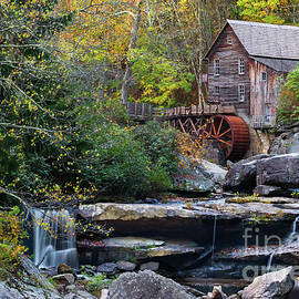 Old Virginia Mill in Autumn Colors by Norma Brandsberg