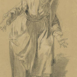 Old Woman with Arms Outstretched - Jean-Baptiste Greuze