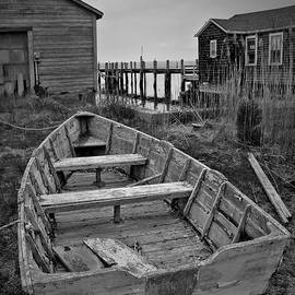 Old Wooden Boat Bw by David Gordon