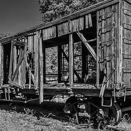 Old Wooden train Car - Garry Gay