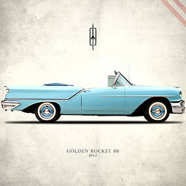Oldsmobile Golden Rocket 88 1957 by Mark Rogan