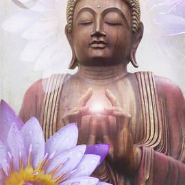 Om Mani Padme Hum - Buddha Lotus by Sharon Mau