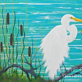 JoNeL Art - On The Edge Egret