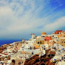 Yuri Hope - On the island of Santorini, Greece