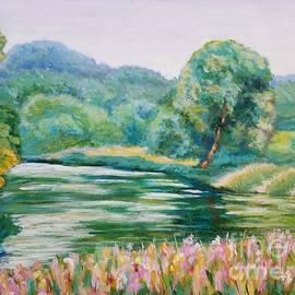 On the river bank by Olga Malamud-Pavlovich