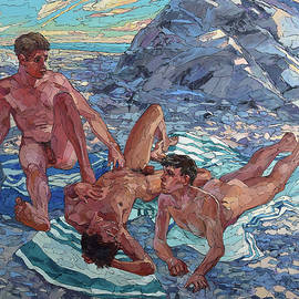 Sergey and Erwin Sovkov - On the Rocky Shore of the Sea