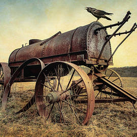 On The Water Wagon - Agricultural Relic by Gary Heller