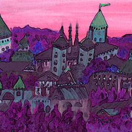 Once Upon A Land In A Time Far Away pink by jrr by First Star Art