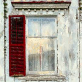 Janine Riley - One Red shutter old Window