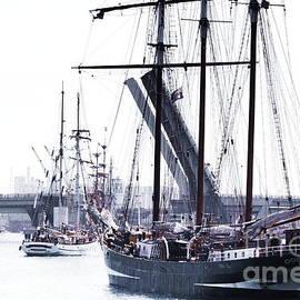 Oosterschelde Leaving Port by Stephen Mitchell
