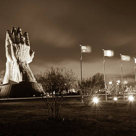 Gregory Ballos - Oral Roberts University Praying Hands in Sepia