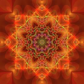 Judi Suni Hall - Orange Autumn Mandala