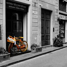 Orange Bike, Streets of Florence by Aashish Vaidya