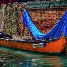 Orange Boat with Blue Cover Venice_DSC4699_03032017 by Greg Kluempers