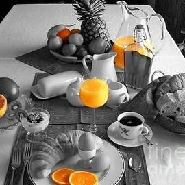 Orange Breakfast table by Louise Lavallee