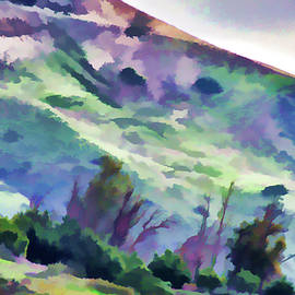 Orange County Hillside Painted Effects I by Linda Brody