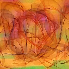 Orange Cycle Days Abstract by Marian Lonzetta