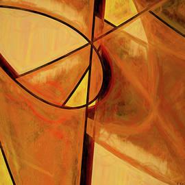 Orange Glow Abstract by Jennifer Stackpole