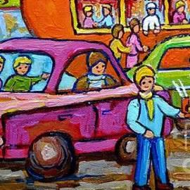 Orange Julep Roadside Attraction Fast Food Drive-in Diner Car Service Skater Girl C Spandau Montreal by Carole Spandau