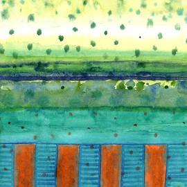 Heidi Capitaine - Orange Posts with Landscape