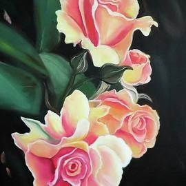 Orange Roses by Derek Rutt