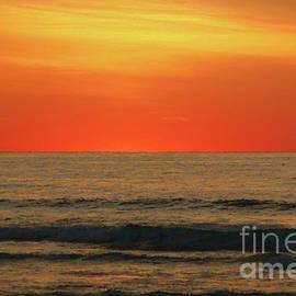 Jeff Breiman - Orange Sunset On The Jersey Shore