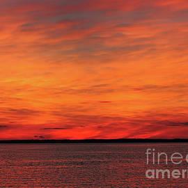Jeff Breiman - Orange Sunset On The New Jersey Shore