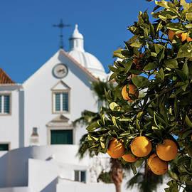 Barry O Carroll - Orange Tree and church - Castro Marim, Portugal