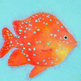 Orange Tropical Fish by Jan Matson
