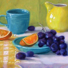 Oranges and Grapes by Bonnie Mason