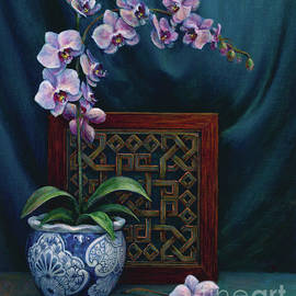 Jane Bucci - Orchids in a Chinese Pot