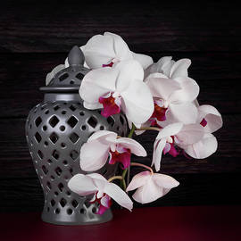 Tom Mc Nemar - Orchids with Gray Ginger Jar