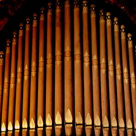 Organ Pipes - Little Stone Church at Uva by Arlane Crump