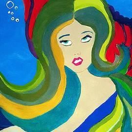 Japanese Mermaid Bubbles  by Pamela Smale Williams