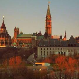 Ottawa skyline at sunset by Karen Cook