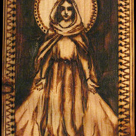 Melissa Cavaliere - Our Lady of Grace Pyrograph