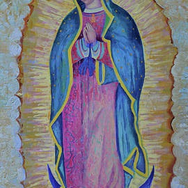 Magdalena Walulik - Our Lady of Guadalupe painting Black Virgen Mexico