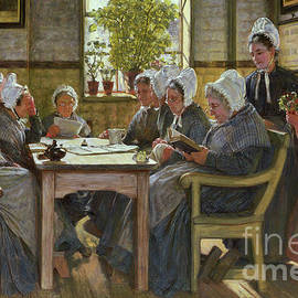 Our Poor  A Bible Reading, Chelsea Workhouse, 1878 - James Charles